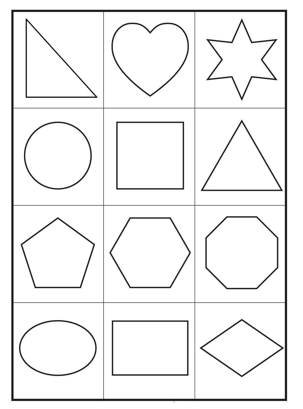 basic printable shapes coloring