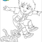 best diego and baby jaguar coloring sheet