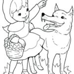best red riding hood cartoon coloring pages for kids