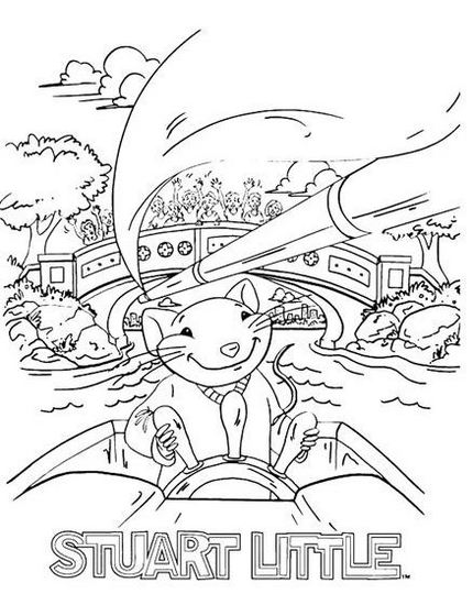 best stuart little becoming a charter boat captain coloring pages for kids