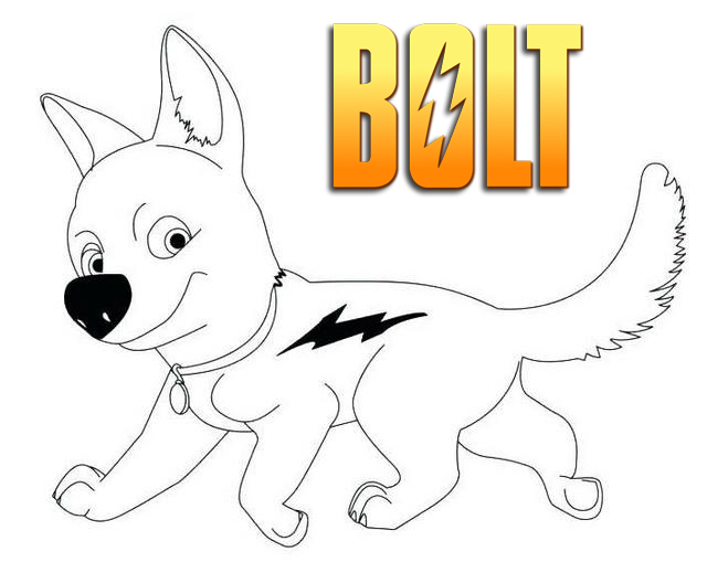 bolt Disney coloring pages printable