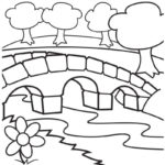 bridge garden coloring sheet