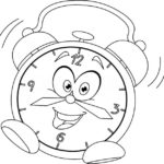 charming alarm clock coloring page online idea