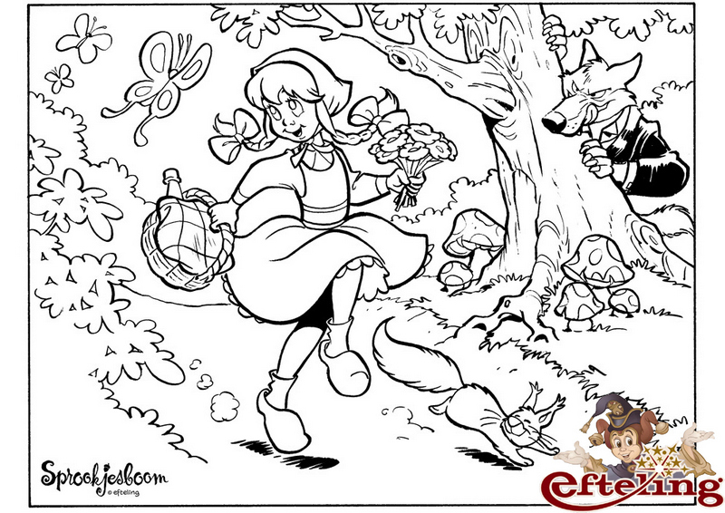 efteling sprookjesboom roodkapje coloring page