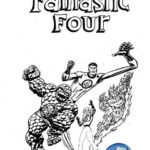 fantastic 4 marvel comics coloring page
