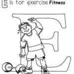 fitness dumbbell exercise coloring page