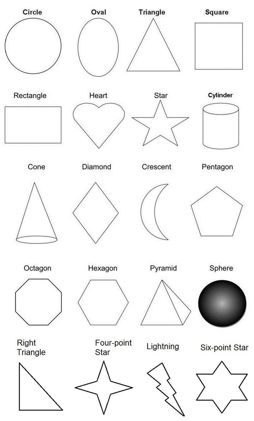 fun shapes worksheet coloring page