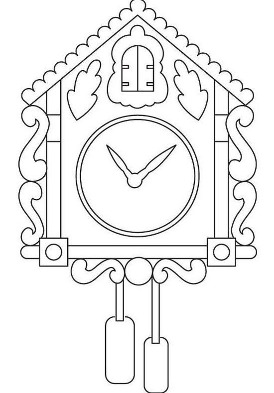 fun wall alarm clock coloring page