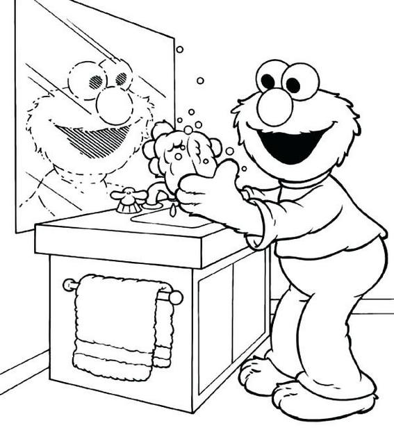 hand washing coloring pages in beatiful draw print