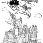 harry potter hogwarts castle coloring page