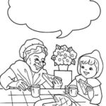 little red riding hood and grandma coloring page