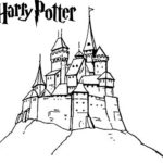 magnificent harry potter hogwarts castle coloring page