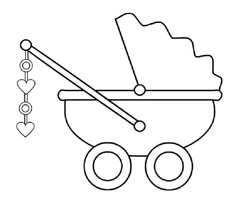 perfect baby carriage coloring sheet
