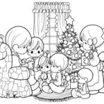 precious moments Christmas coloring sheet