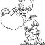 precious moments angel coloring page