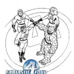 printable fantastic 4 coloring page