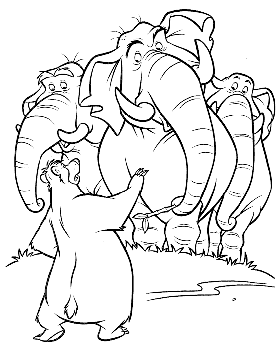printable the jungle book disney coloring pages