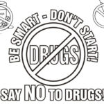 say no to drugs coloring sheet
