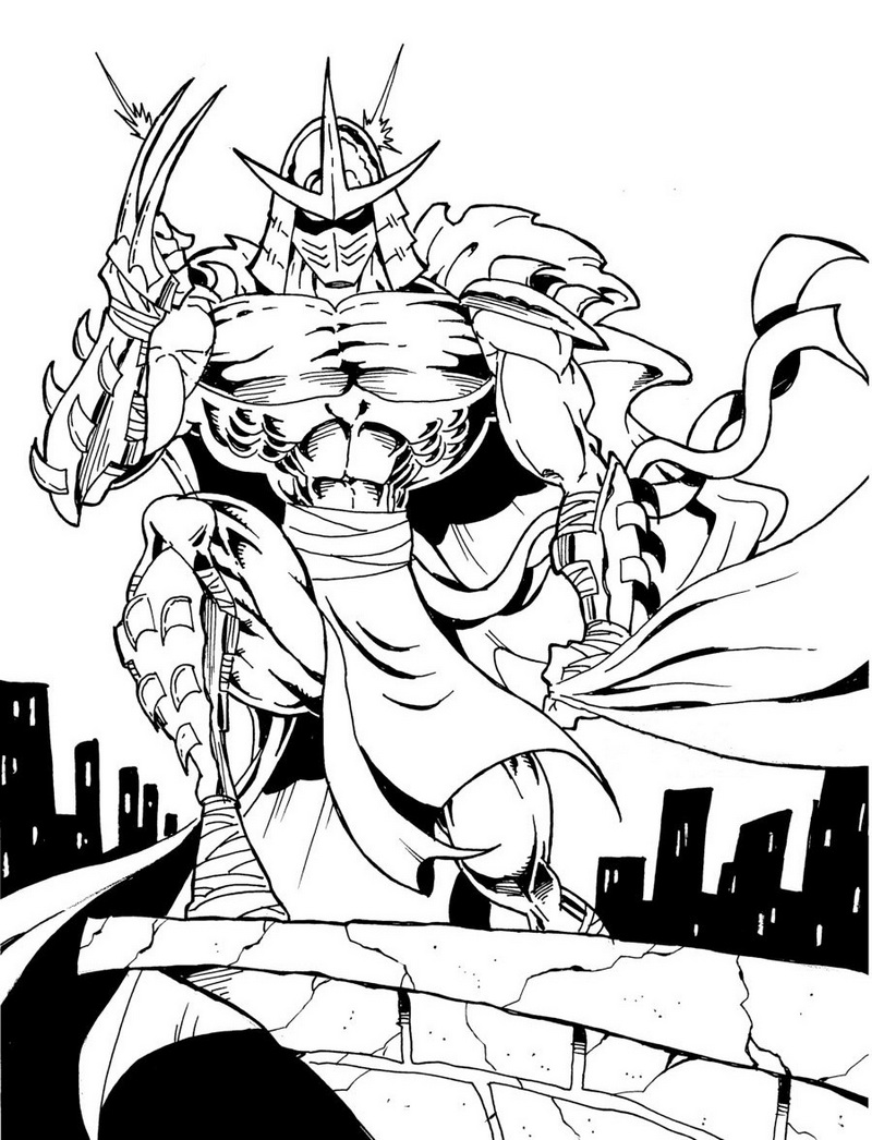 shredder coloring pages - photo#17