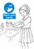 Washing Hands Signs Coloring Pictures to Raise Awareness about Health Care