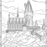 splendid harry potter hogwarts castle coloring page for all ages