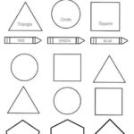 teaching shapes coloring page for children