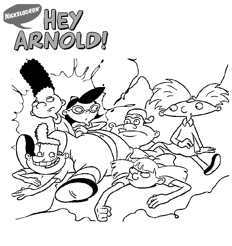 top hey arnold coloring sheet online