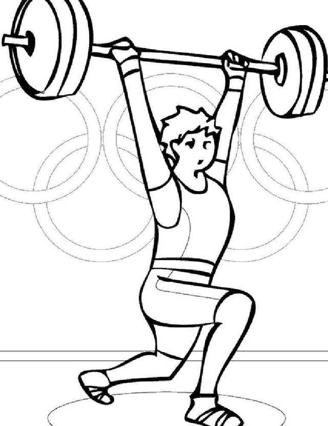 weightlifting fitness coloring picture
