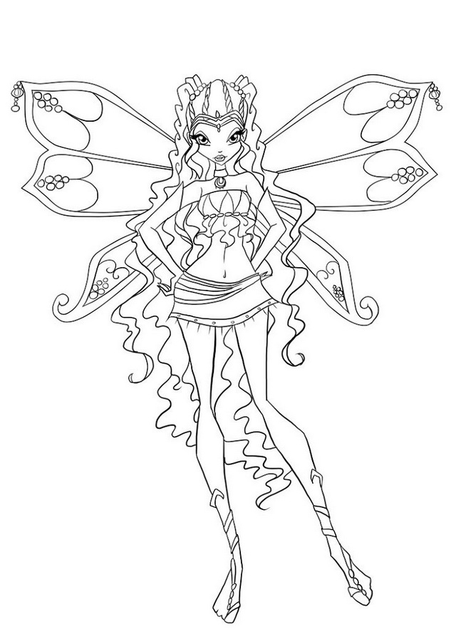 Aisha Layla Winx Club Coloring Page