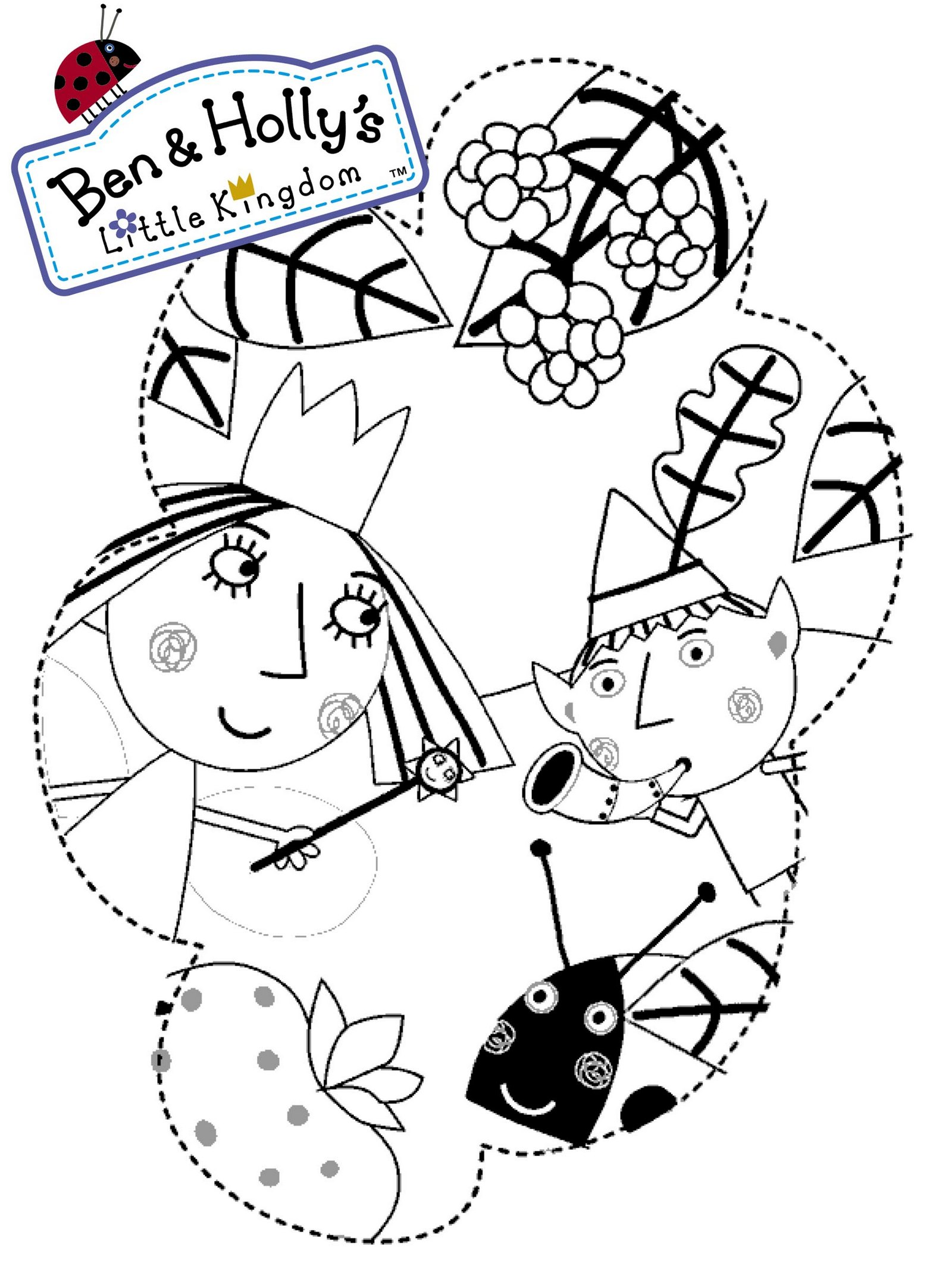 Ben Elf and Princess Holly Coloring Page