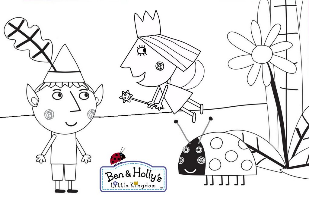 Best Ben and Hollys Little Kingdom Coloring Page for Children