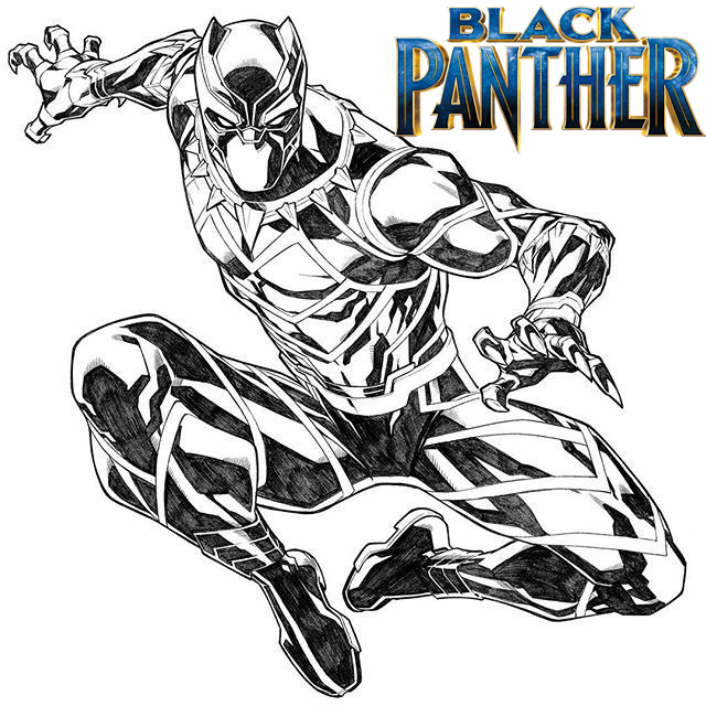 Black Panther Coloring Page Free