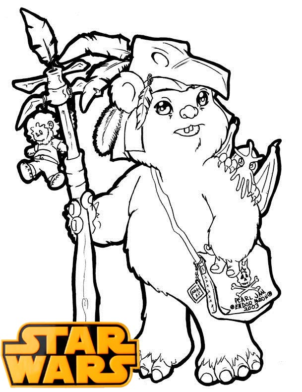 Ewok action figures Coloring Page