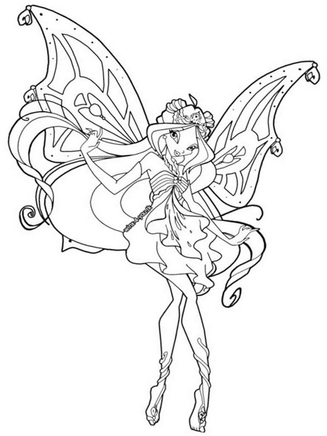 Flora the winx club coloring page
