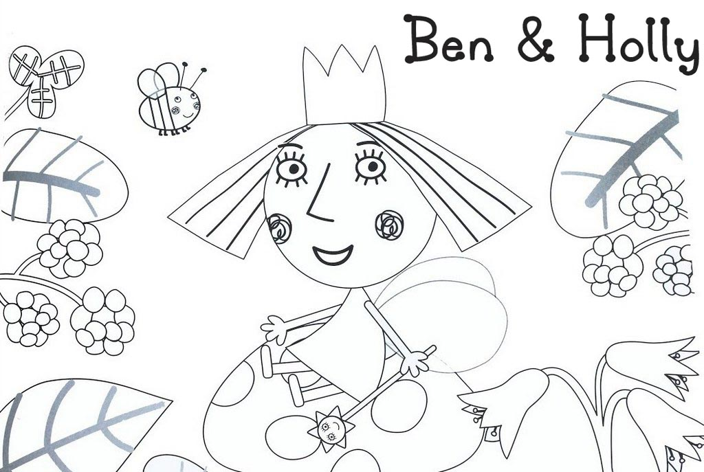 Holly from Ben and Holly Little Kingdom Coloring Page