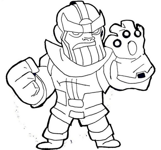Superhero Thanos Coloring Pages: Lego Thanos Coloring Sheet