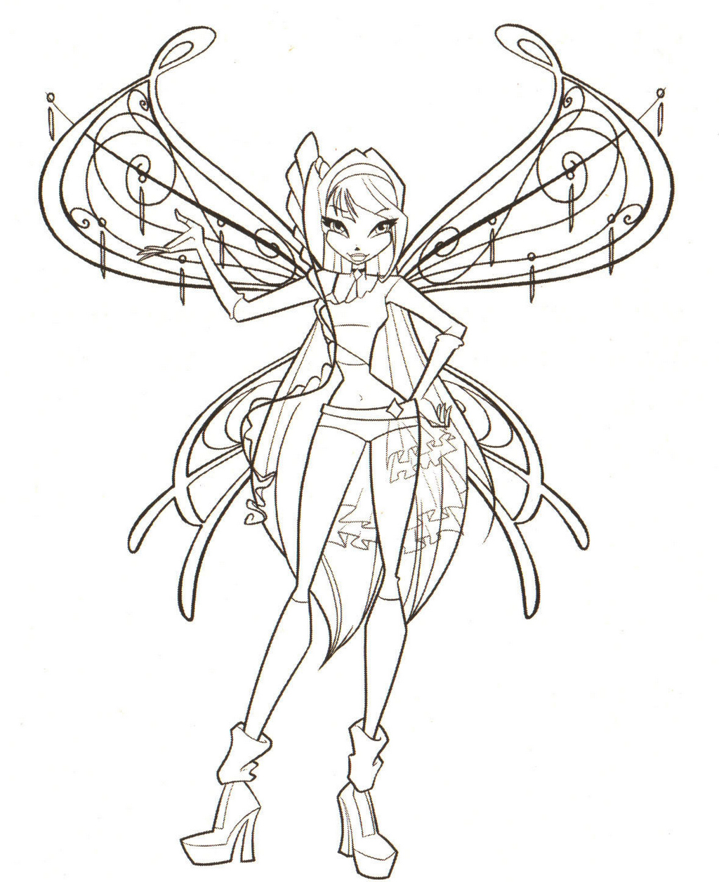 Musa from Winx Club Coloring Pages