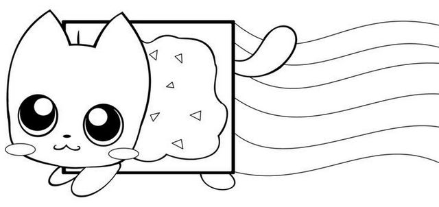 Nyan Cat Game Coloring Page