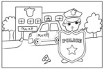 Amazing Illustrations of Police Station Coloring Pages for Kids