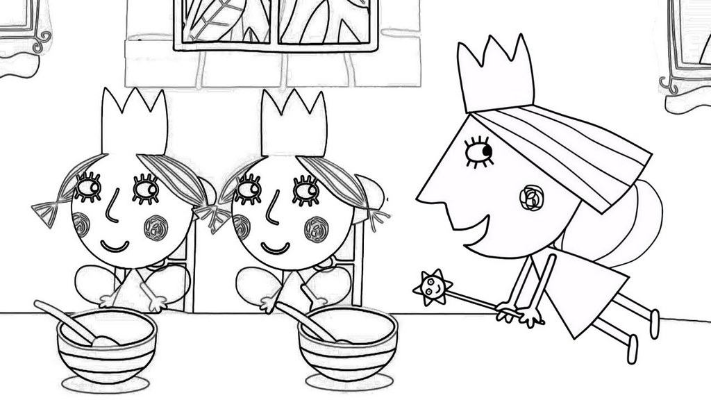 Princess Holly in Dining Table Coloring Page