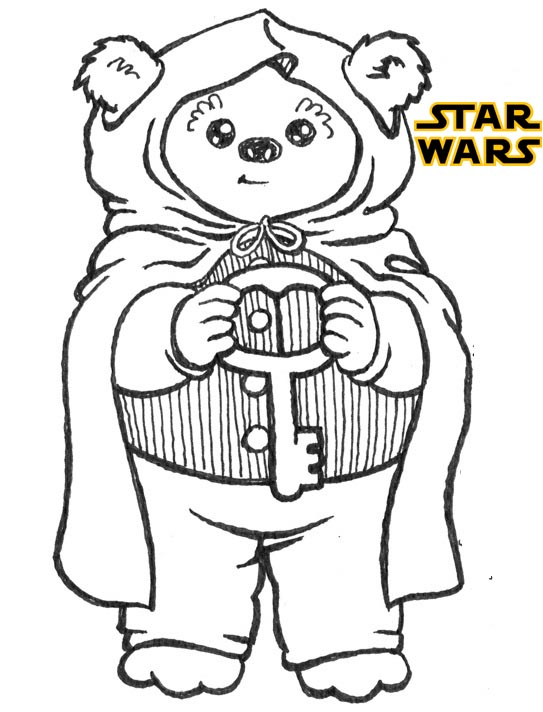 Star Wars Wicket the Ewok Coloring Page