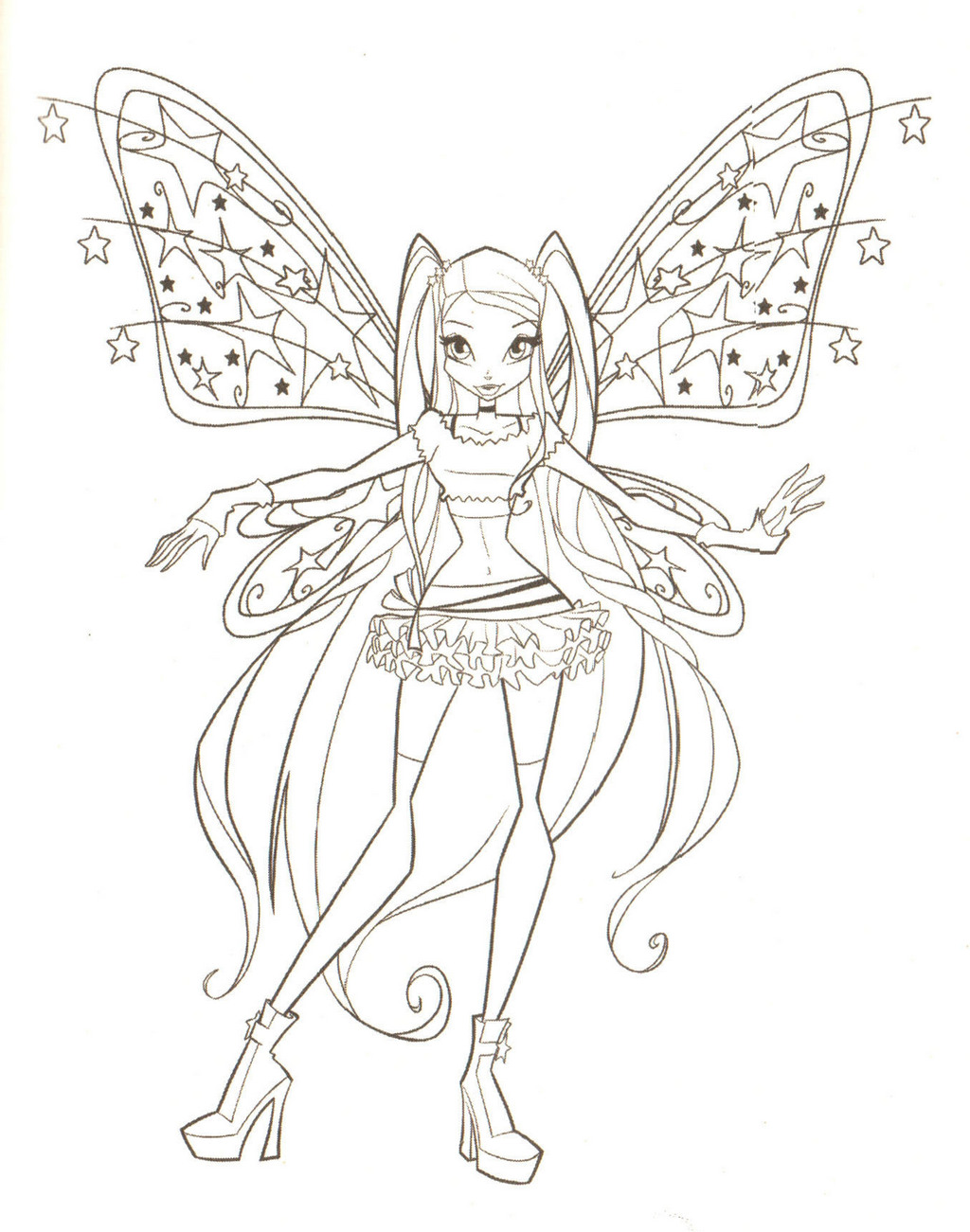 Stella Believix the Winx Club Coloring Sheet