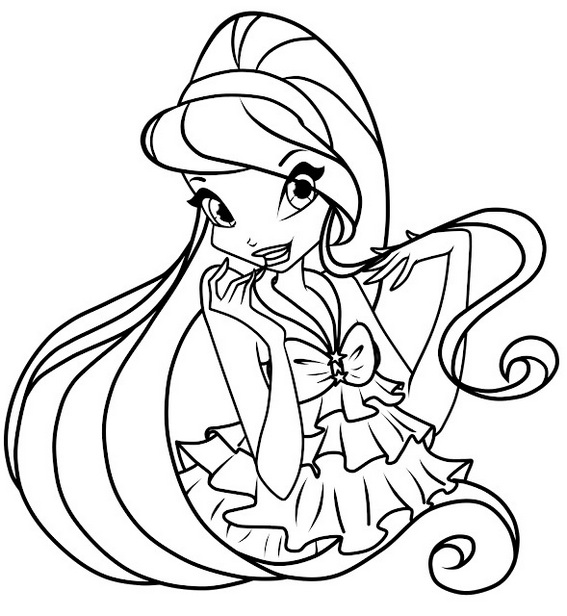 Stella the winx club coloring pages