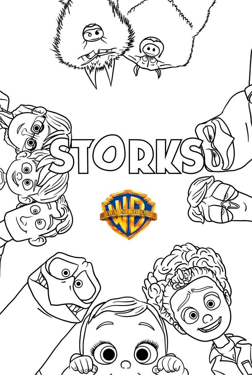 Storks Warner Bros Coloring Page