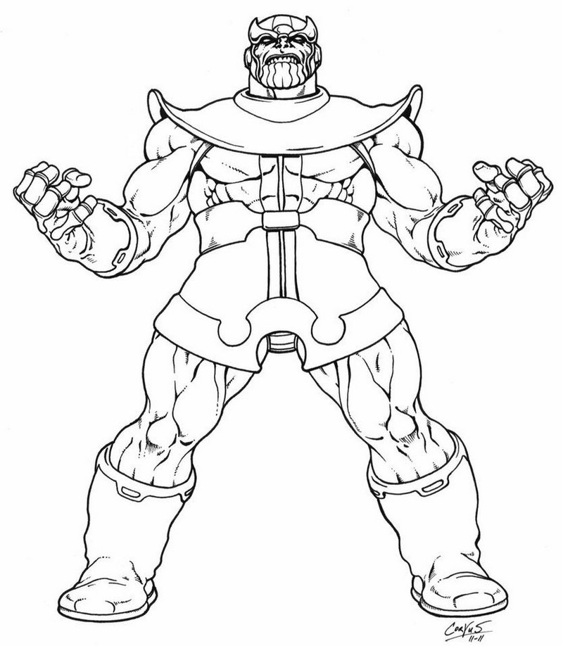 Thanos Avenger Coloring Page