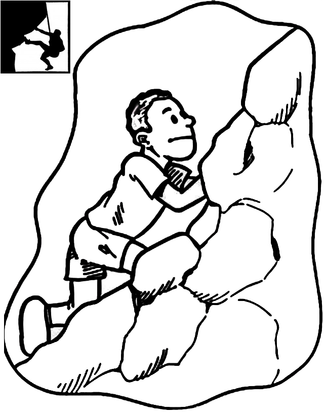 top rock climbing coloring page. Black Bedroom Furniture Sets. Home Design Ideas