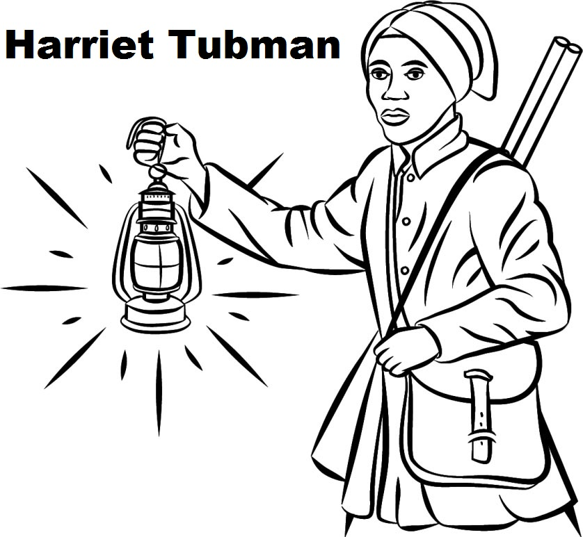 best Harriet Tubman coloring sheet