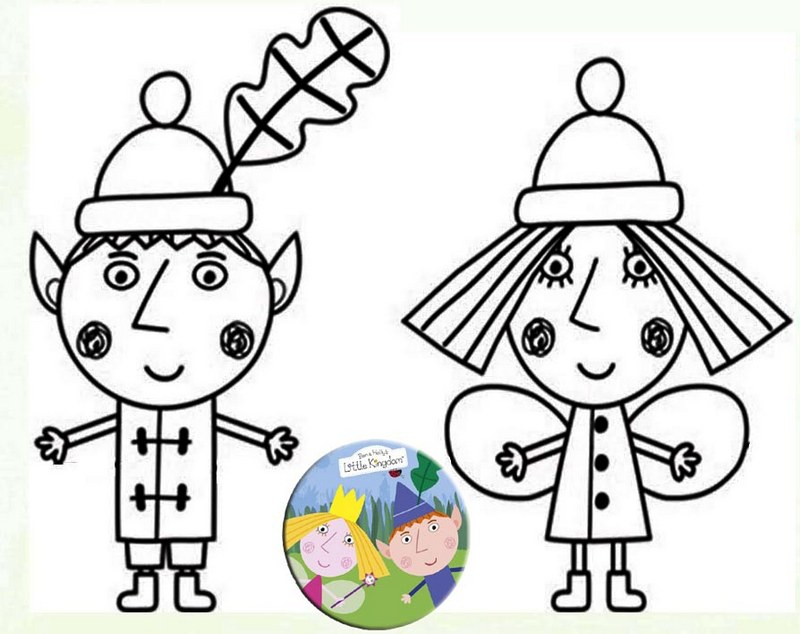 cute ben and holly coloring sheet