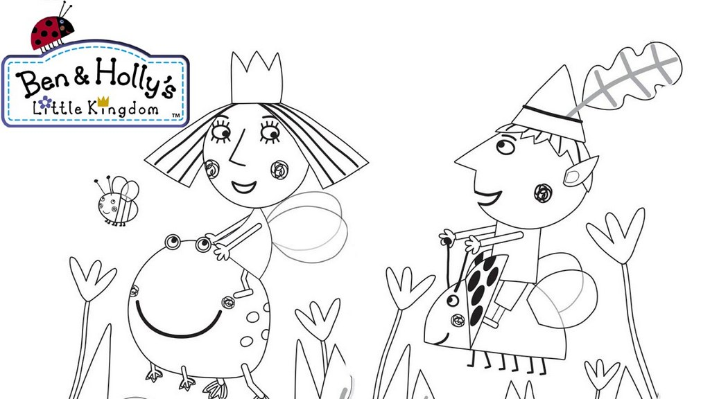 fun ben and holly coloring sheet for children