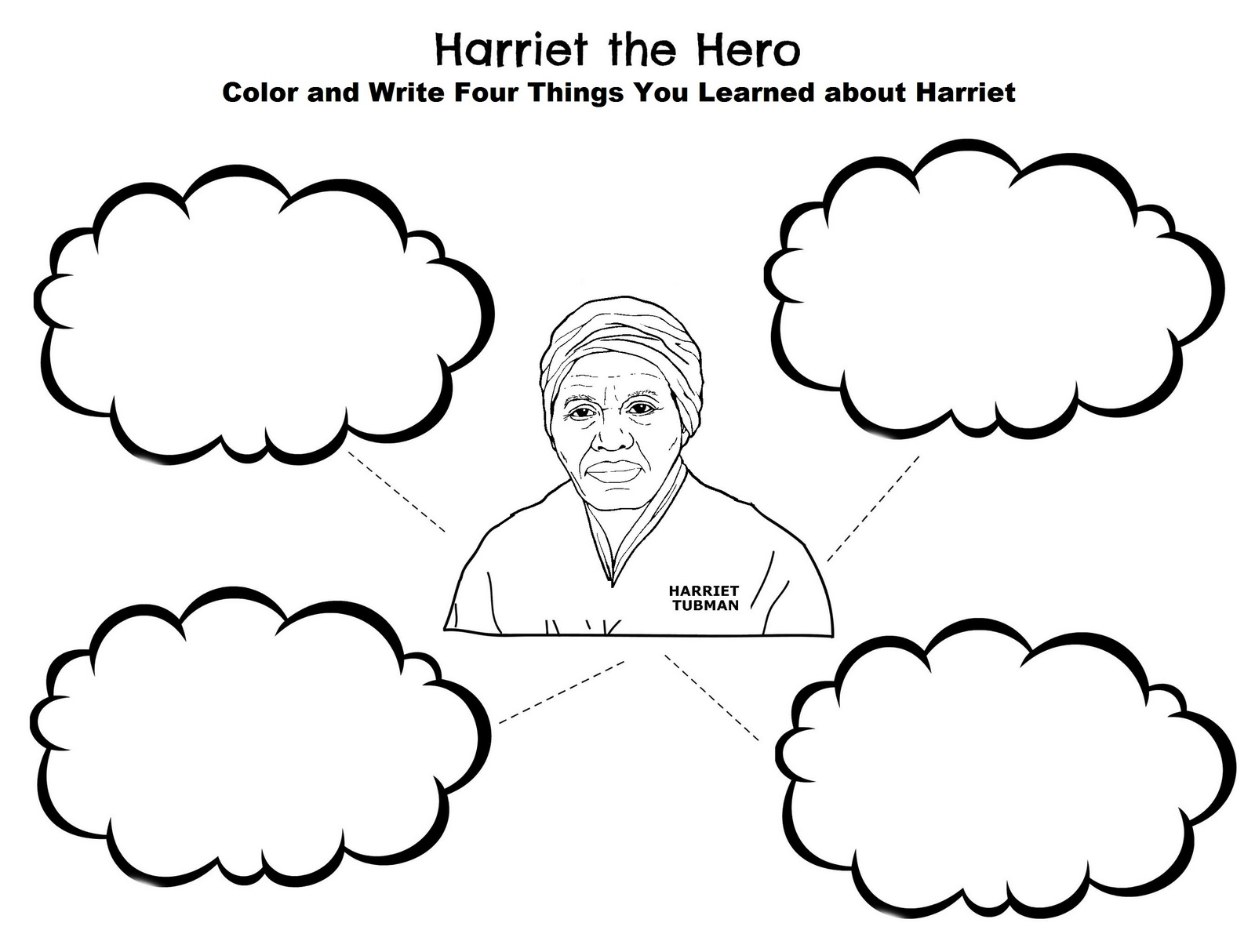 Harriet Tubman the hero coloring page